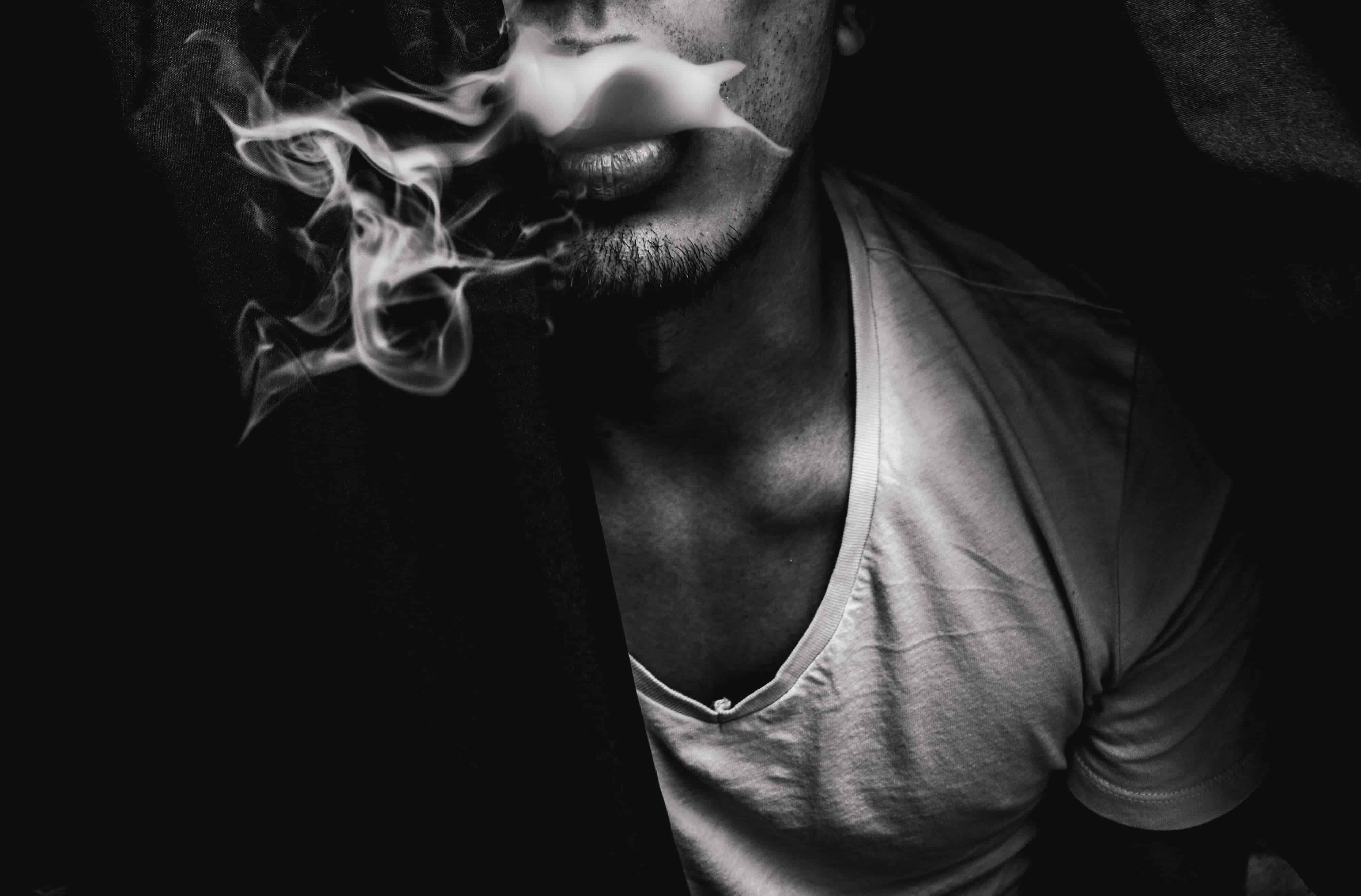 Schwarz Weiß Rauch