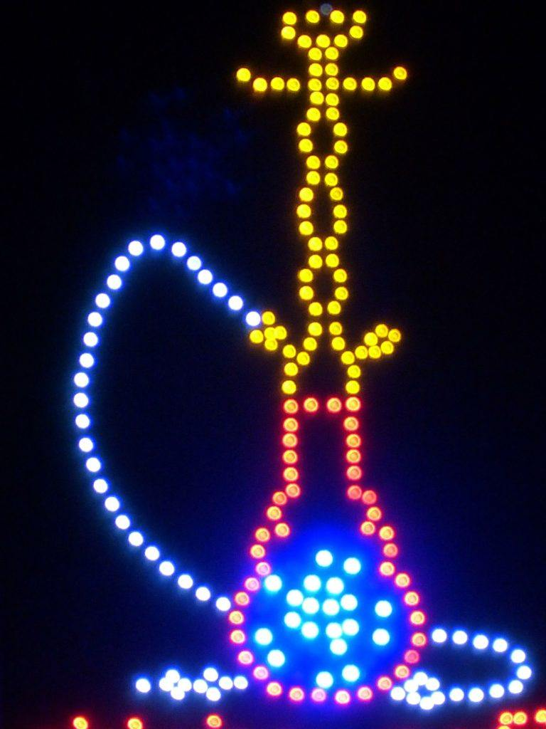 Shisha mit LEDs