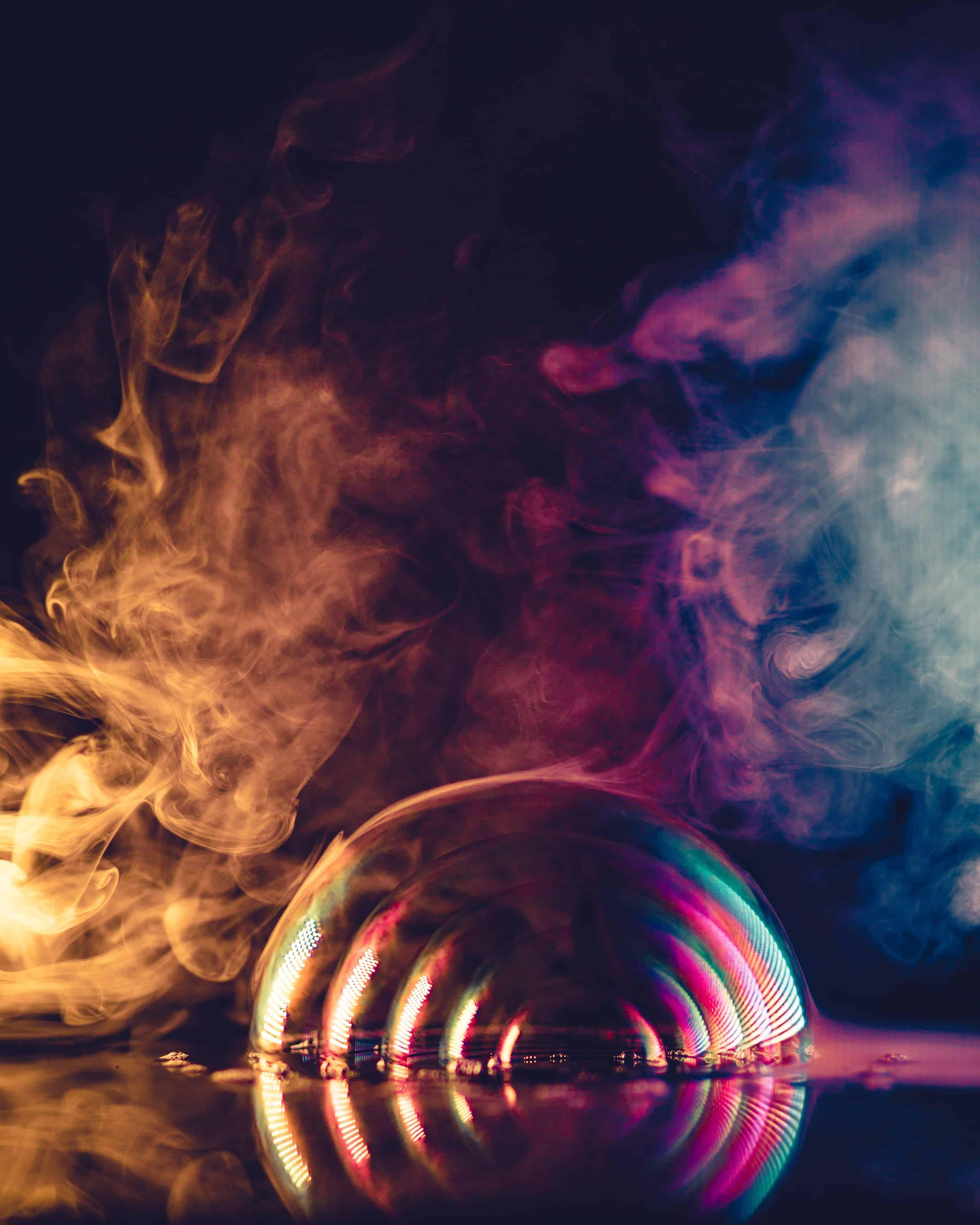 Rauch Bunte Farben
