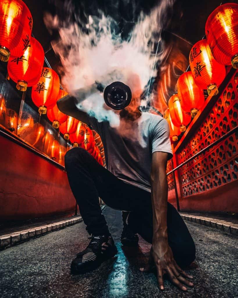 Dramatic Bild mit Rauch