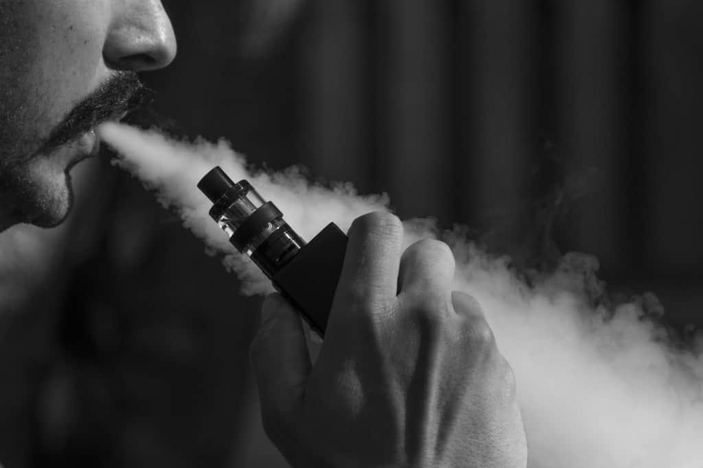 Man Smoking Ecigarette