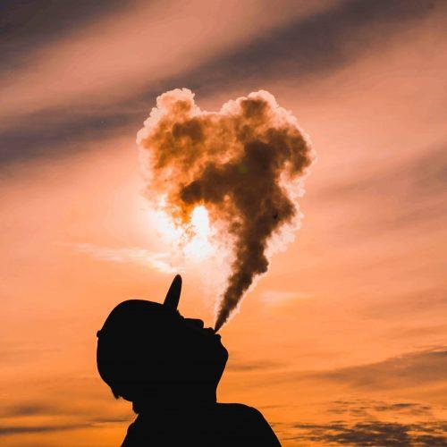 Schatten Mann Mit Rauch